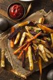 Oven Baked Vegetable Fries stock foto