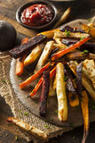 Oven Baked Vegetable Fries Photo stock
