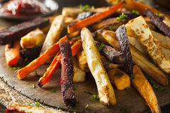 Oven Baked Vegetable Fries Arkivbild