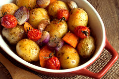 Oven baked vegetables Stock Photography