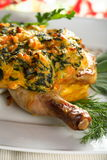 Oven chicken with herbs Royalty Free Stock Photos