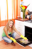 Oven cleaning Stock Images