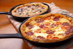 Oven cooked pizzas Stock Images