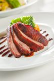 Oven crisp duck breast marinated in sauce Royalty Free Stock Photos