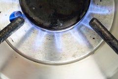 Oven die aardgas brandt Stock Afbeeldingen