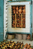 Oven for drying clay pots Royalty Free Stock Images
