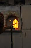 Oven in een glasfabriek royalty-vrije stock foto's