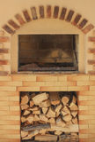 Oven with firewood Royalty Free Stock Photos