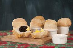 Oven-fresh mini breads Stock Image