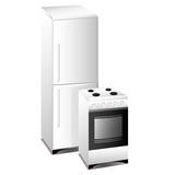 Oven. Fridge Royalty Free Stock Photo