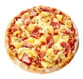 Oven-gebakken heerlijke Italiaanse Hawaiiaanse pizza stock fotografie
