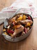 Oven-gebakken kippenbenen royalty-vrije stock afbeeldingen