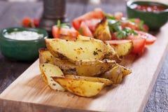 Oven geroosterde aardappelwiggen Royalty-vrije Stock Fotografie