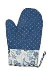 Oven Glove isolerade på vit bakgrund Fotografering för Bildbyråer