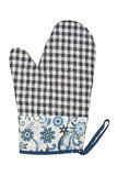 Oven Glove isolou-se no fundo branco Fotografia de Stock Royalty Free