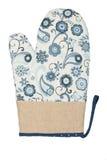 Oven Glove lokalisierte auf weißem Hintergrund Stockfotografie