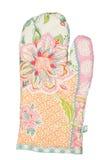 Oven Glove lokalisierte auf weißem Hintergrund Stockfoto