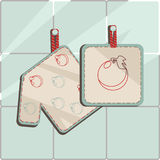 Oven-glove. Vector illustration of oven-glove. Solid fill only Royalty Free Stock Photos