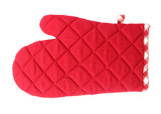 Oven gloves red Stock Image