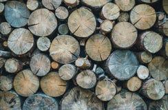 Oven het verwarmen Levering van brandhout voor de winter Royalty-vrije Stock Fotografie