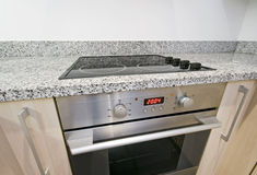 Oven and hob detail Royalty Free Stock Image