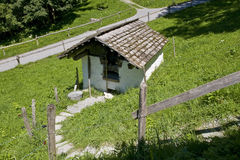 Oven house. Old oven house for making bread in the swiss countryside Stock Image