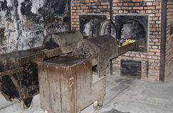 Oven for incineration in Auschwitz - Birkenau camp Royalty Free Stock Image