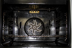 Oven inside Stock Photography