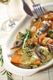 Oven kipper in dressing. Made from anchois Royalty Free Stock Photos