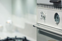 Oven in the kitchen Royalty Free Stock Images