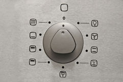 Oven knob detail Royalty Free Stock Photography
