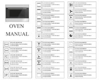 Oven manual symbols. Instructions. Signs and symbols for oven exploitation manual. Instructions and function description. Vector i Stock Image