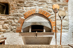 Oven for pizza and bread. Stock Photo