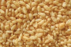 Oven Popped Rice Breakfast Cereal Background Texture stock photos