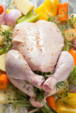 Oven ready chicken high angle Stock Photo