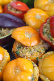 Oven ready stuffed vegetables Royalty Free Stock Photo