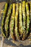 Oven roasted asparagus Stock Photo