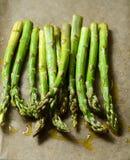 Oven roasted asparagus Stock Photos