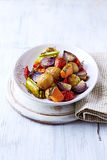Oven-Roasted Autumn Vegetables. In a Bowl Stock Image