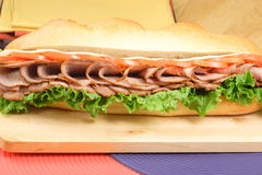 Oven roasted beef sandwich. This is the perfect all occasion meal easy to make fast healthy and delicious Royalty Free Stock Photography