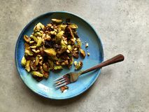 Free Oven Roasted Brussels Sprouts With Pine Nuts, Garlic, Parmesan Royalty Free Stock Photos - 49418348