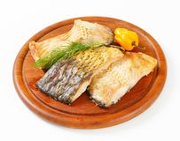 Oven-roasted carp fillets Royalty Free Stock Photos