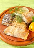 Oven-roasted carp fillets Royalty Free Stock Photography