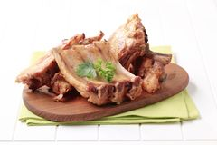 Oven-roasted pork ribs Royalty Free Stock Image
