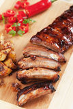 Oven roasted pork ribs Stock Image