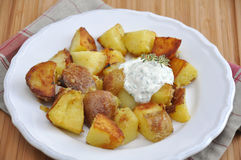 Oven Roasted Potatoes Stock Images