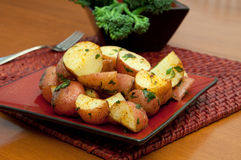 Oven Roasted Potatoes Stock Image