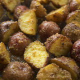 Oven roasted potatoes close up Royalty Free Stock Photos