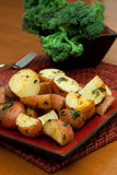 Oven Roasted Red Potatoes Stock Photo