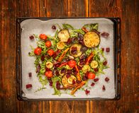 Oven roasted vegetables Stock Photos